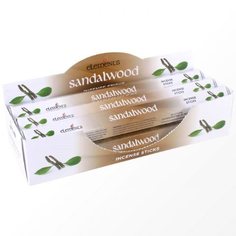Sandalwood Scented Incense Sticks Elements Indian - Tube Of 20